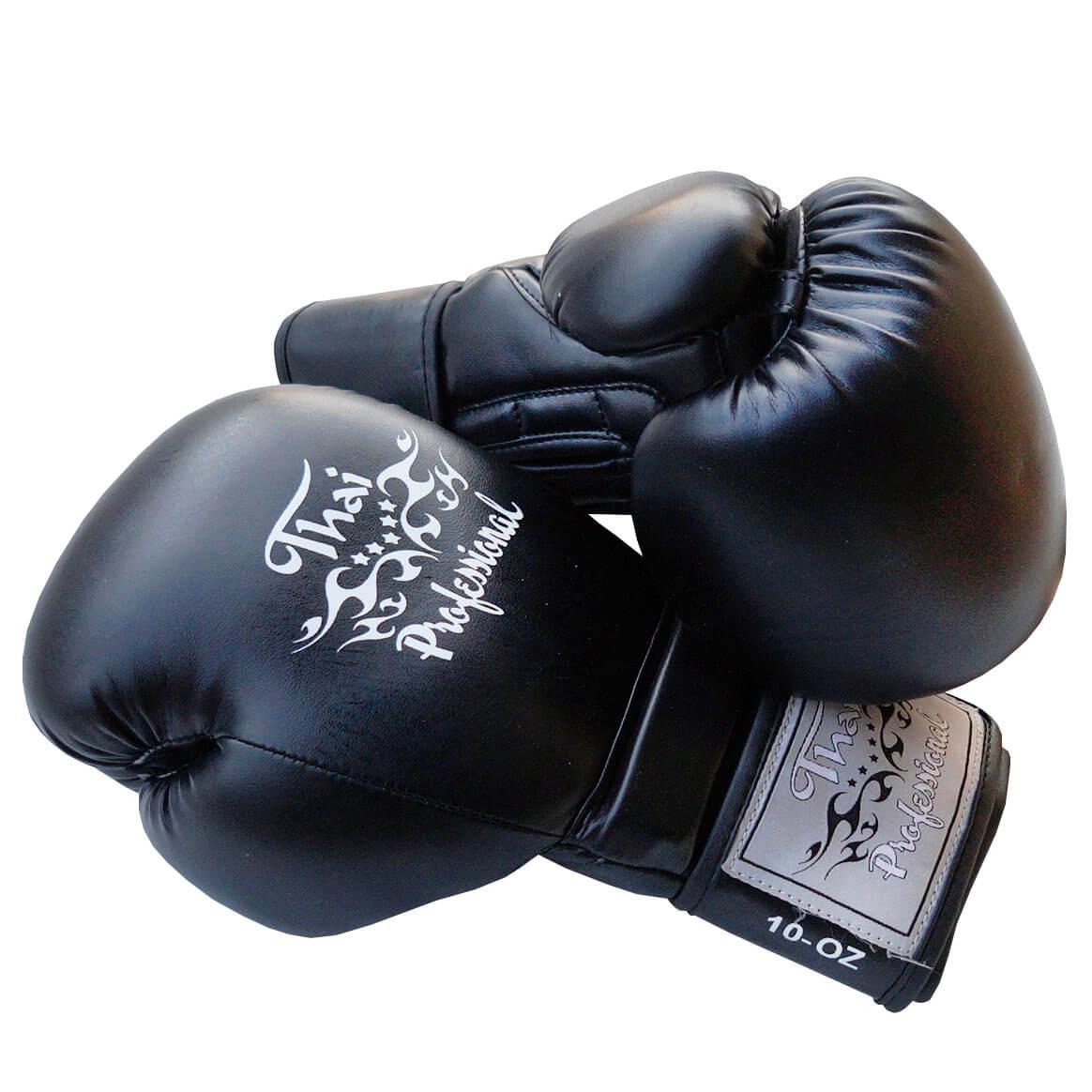 Боксерские перчатки Thai Professional BG3 Черные