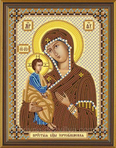 Набор для вышивания бисером икона Богородица Иерусалимская
