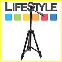 Компактный штатив для фотоаппарата Zhuoyue ZY-334 Черный (35-105 см)