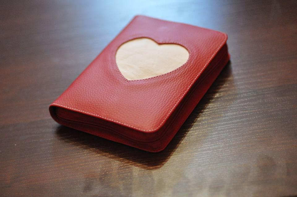 Обкладинка для Біблії з серцем 12,5х17,5см