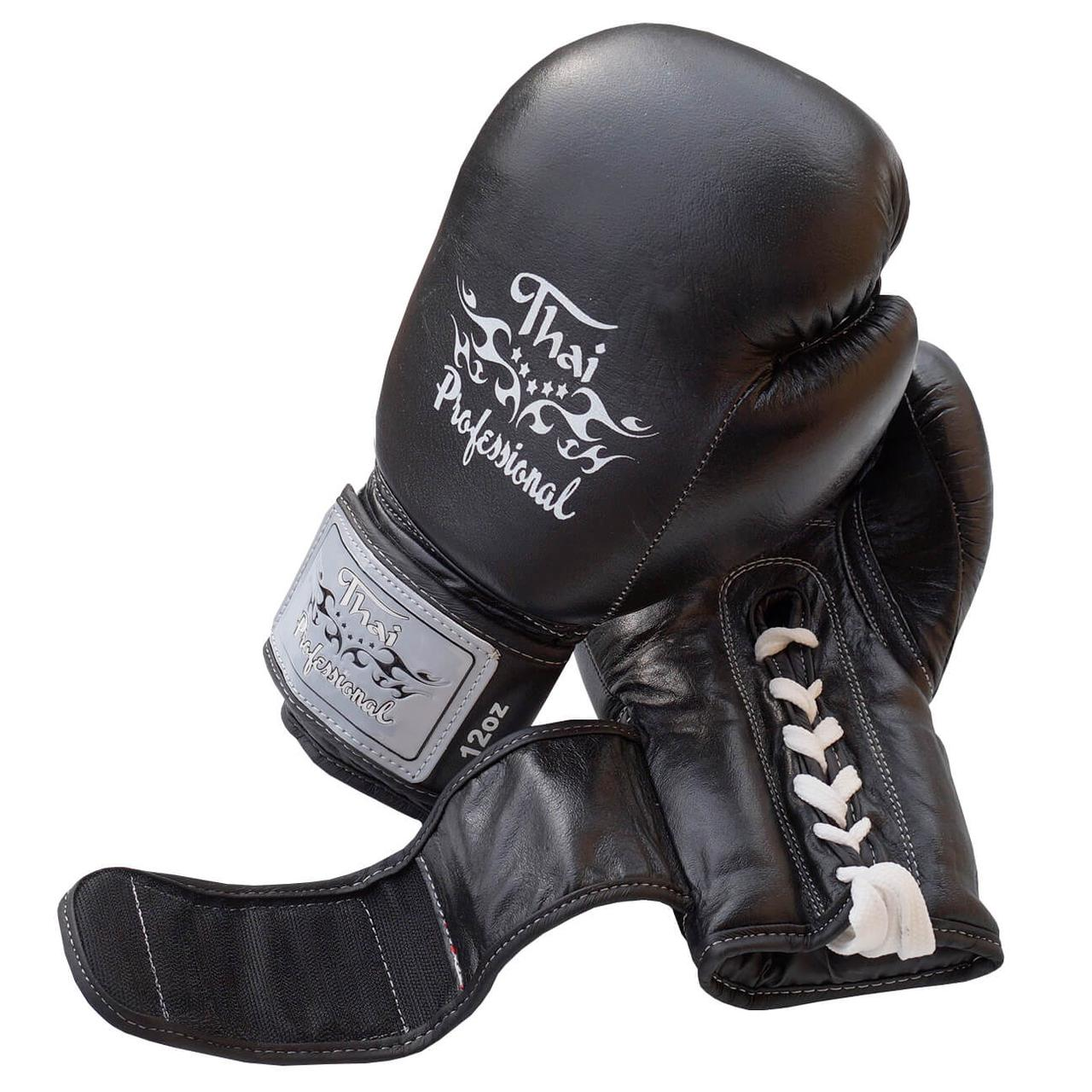Боксерские перчатки Thai Professional BG5VL Black