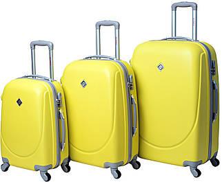 Набор чемоданов Bonro Smile 3 штуки желтый (10050300)