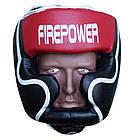 Шлем боксерский для тренировок FIREPOWER FPHGA5 Red, фото 2