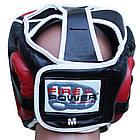 Шлем боксерский для тренировок FIREPOWER FPHGA5 Red, фото 3