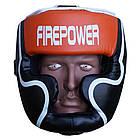 Шлем боксерский для тренировок FIREPOWER FPHGA5 Orange, фото 2