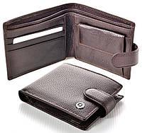 Мужской кожаный кошелек Boston коричневый