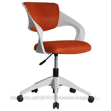 Кресло офисное секретаря Office4You TORO  orange  white outer shell 59x76xH88cm