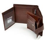 Мужской кожаный кошелек правник Dr. Bond натуральная кожа, фото 4
