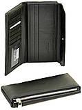 Мужской кожаный кошелек купюрник Dr.Bond на молниии с визитницей, фото 2