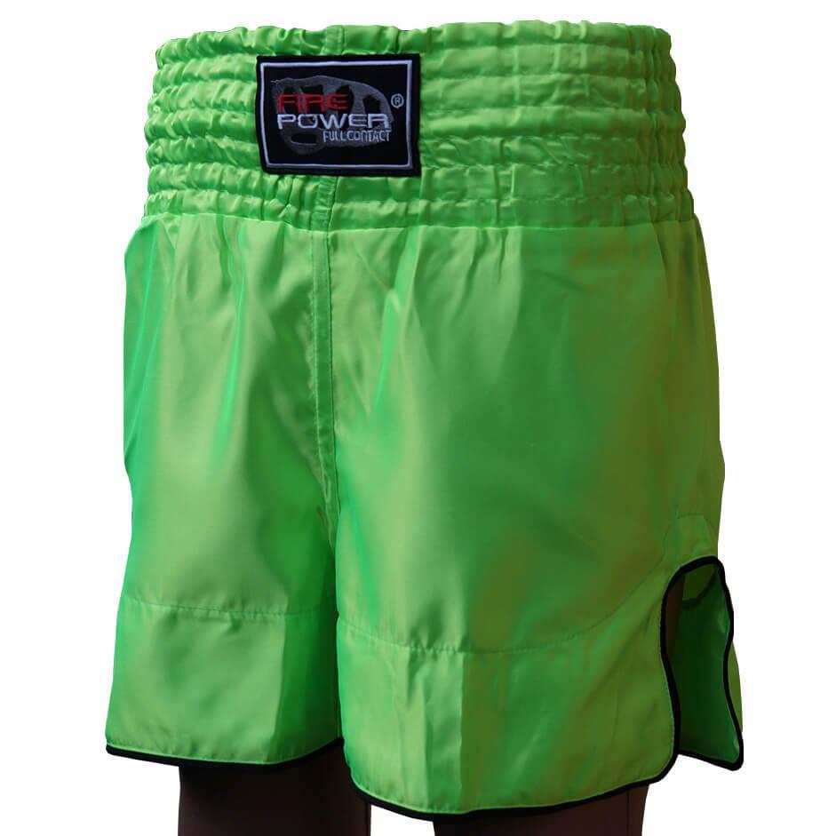 Шорты для тайского бокса (Muay Thai) FIREPOWER ST-17 Lime