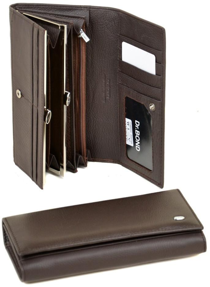 Женский кожаный кошелек Dr.Bond натуральная кожа