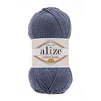 Турецкая пряжа для  вязания Alize  Cotton Baby Soft (беби котон софт)-полухлопок  203 джинс меланж