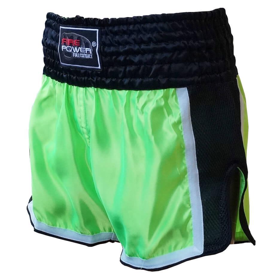 Шорти для тайського боксу (Muay Thai) FIREPOWER ST-16 Lime/Black