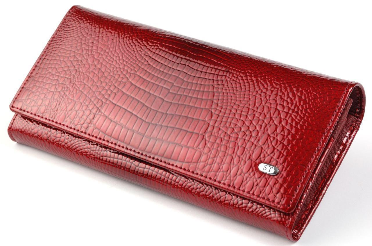 Женский кожаный кошелек ST лаковый