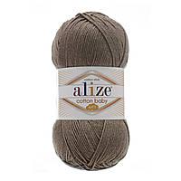 Турецкая пряжа для  вязания Alize  Cotton Baby Soft (беби котон софт)-полухлопок  240 светло-коричневый