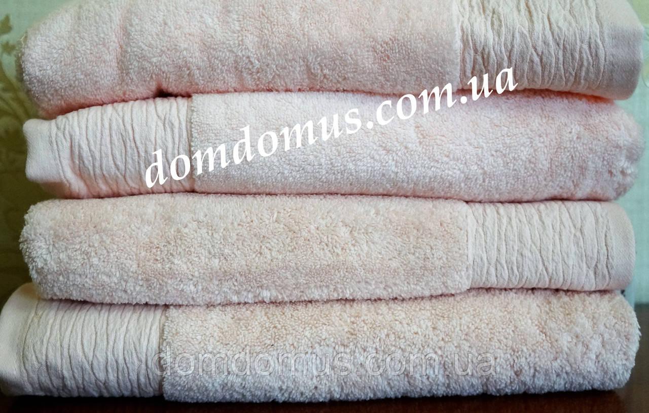 """Махровое полотенце """"Micro Coton Nuans"""" 50*90 (100% хлопок) Puppila, Турция розовое"""