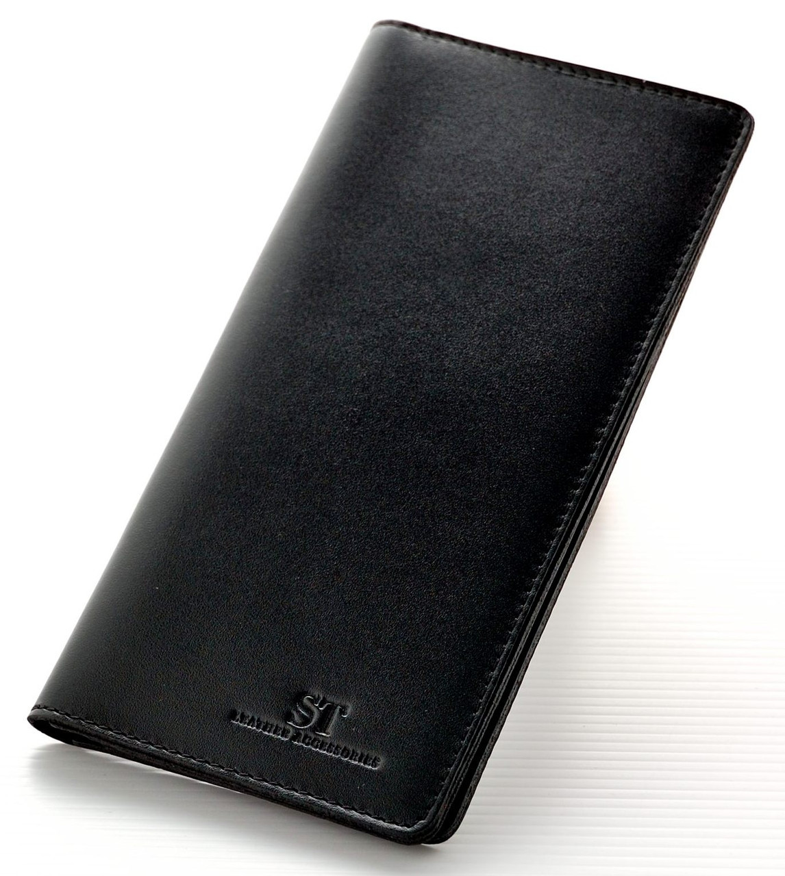 Мужской кожаный кошелек портмоне купюрник ST тонкий натуральная кожа
