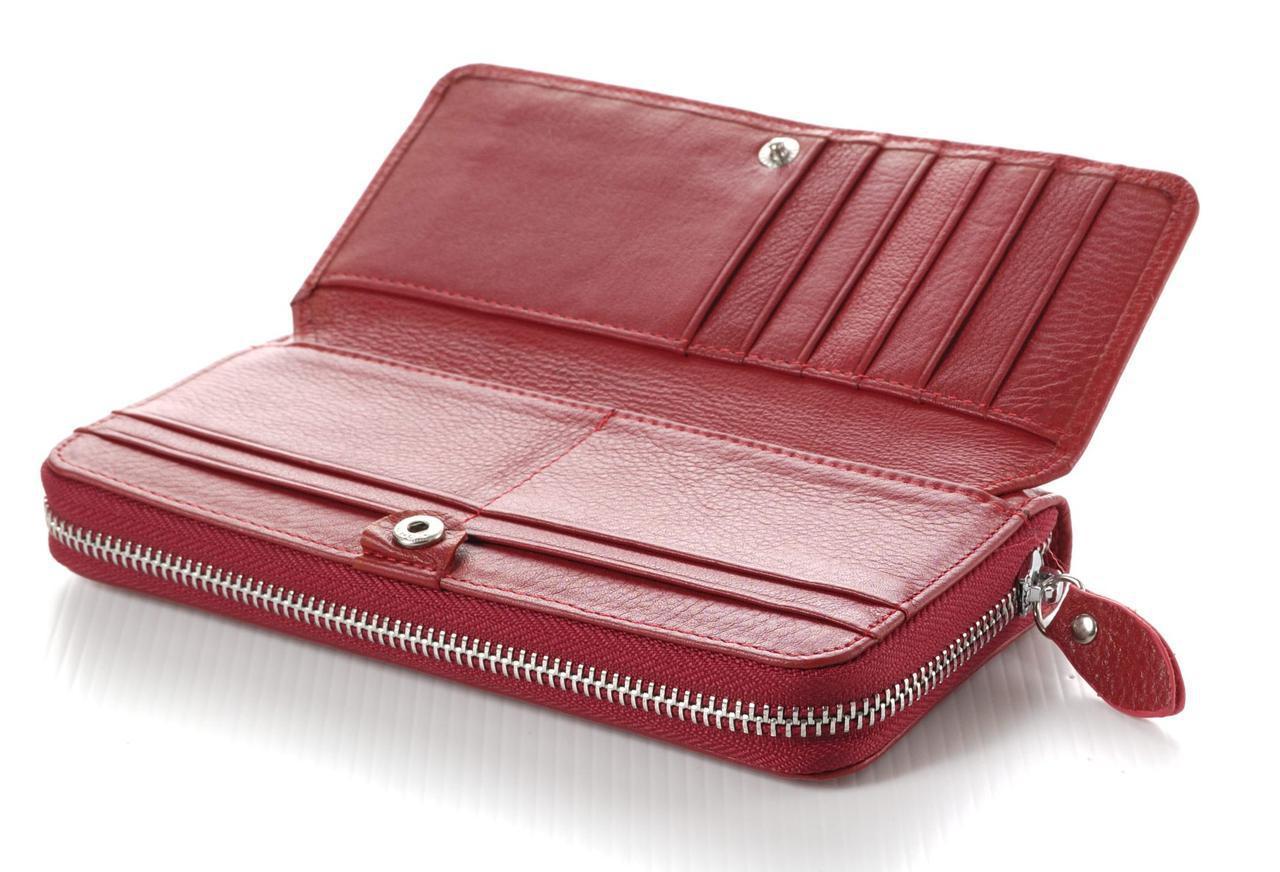 4799be2def9a Женский кожаный кошелек клатч на молнии Boston с визитницей: продажа ...
