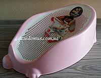 Детская подставка-горка для купания 58x34x23 см Akay, Турция розовая