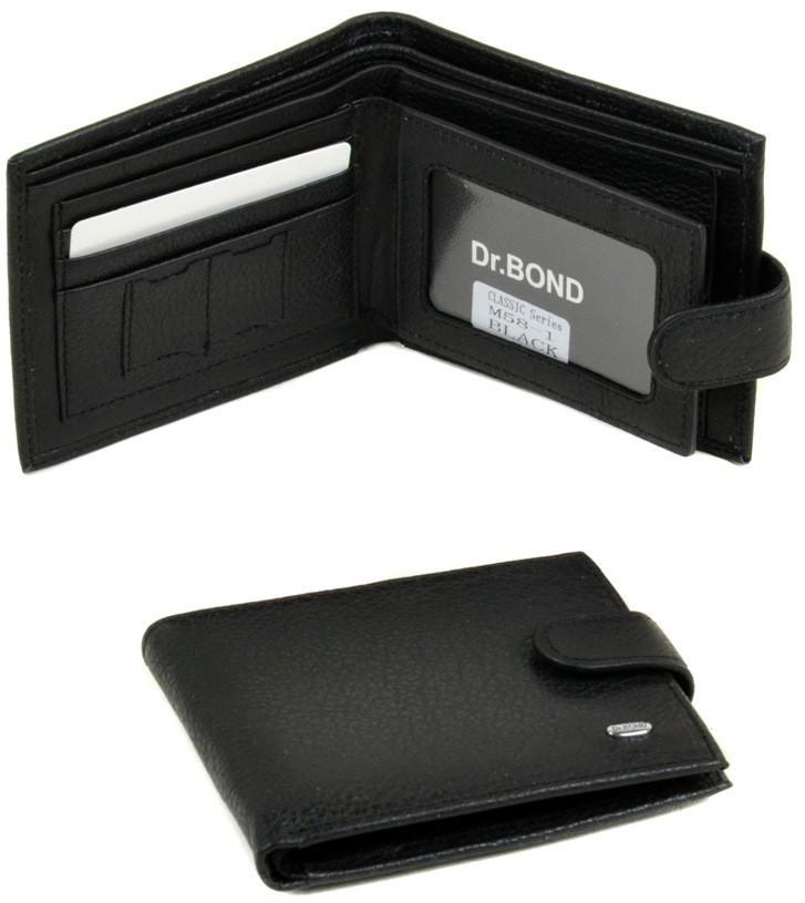 Мужской кожаный кошелек портмоне Dr.Bond тонкий натуральная кожа
