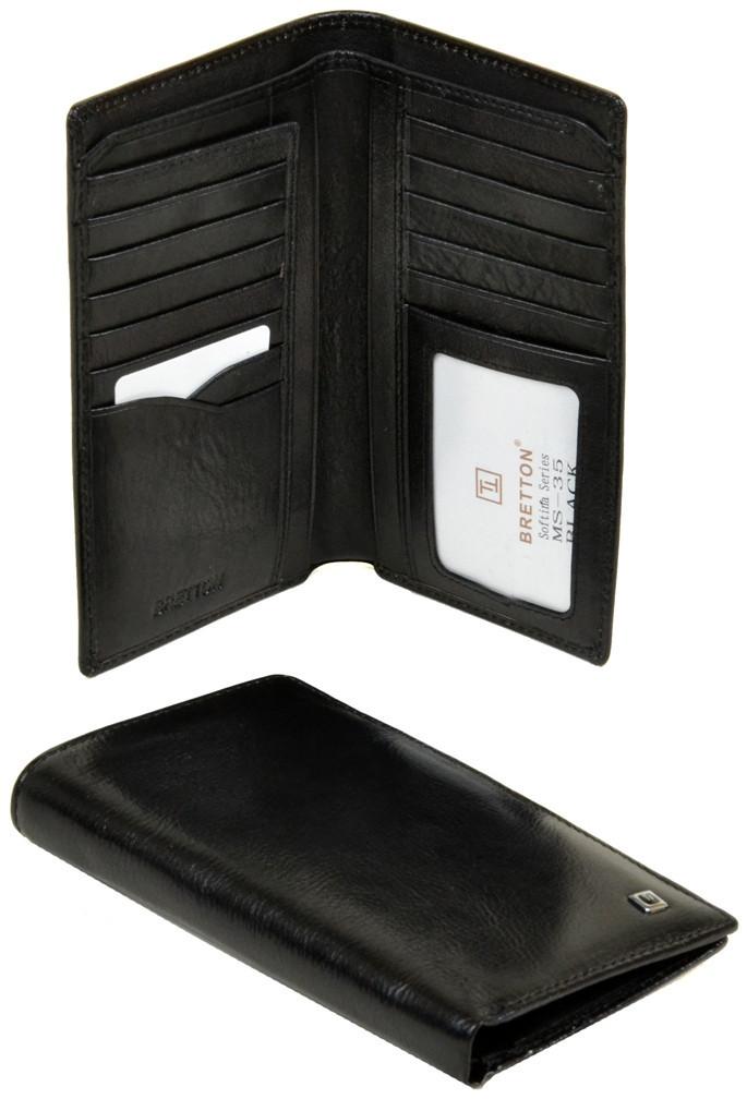Мужской кожаный кошелек купюрник Bretton Натуральная кожа премиум качества