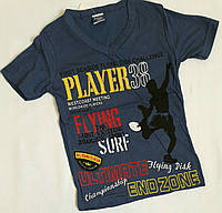 "Футболка ""PLAYER"", коттон, размер 5-8 лет,  синий"
