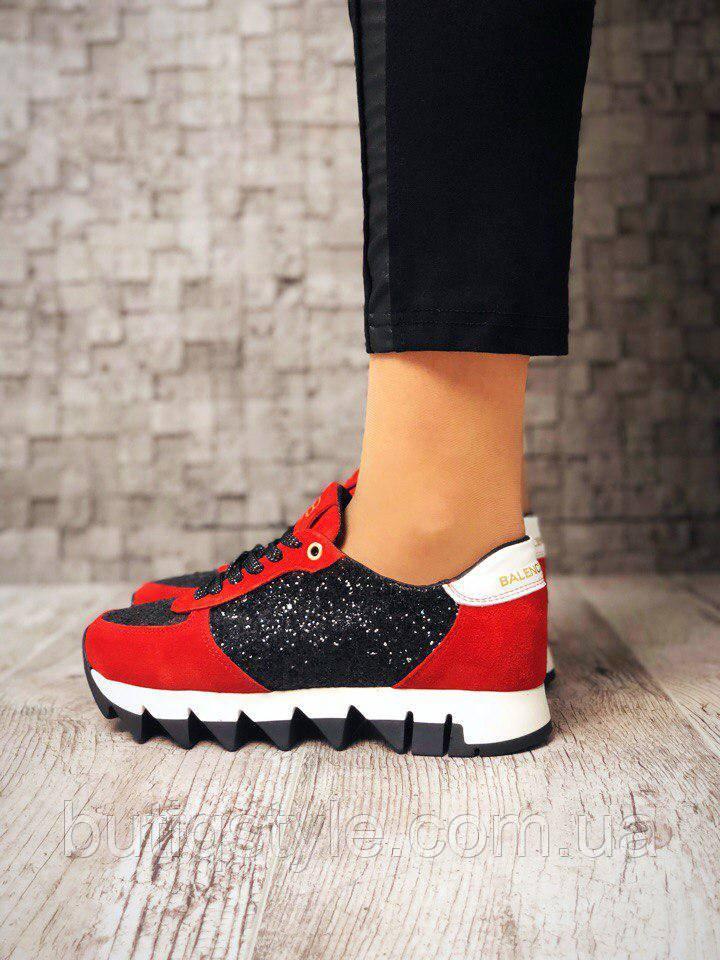 Женские кроссовки BalenCi@g@, натур. замш