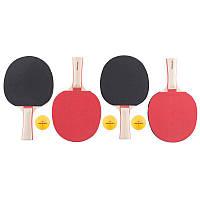 4 ракетки для настольного тенниса + 3 мяча Artengo