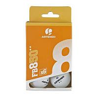 Шарики для настольного тенниса Artengo 850 C ** x 6