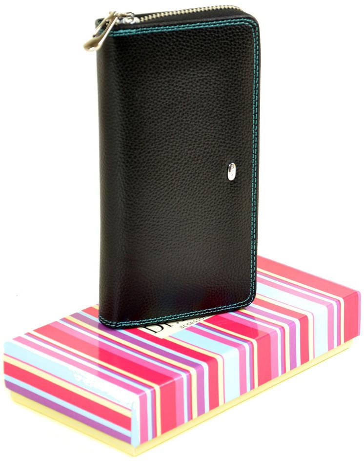 Женский кожаный кошелек клатч на молнии Dr.Bond натуральная кожа