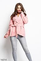 Женское пальто 16314 персиковый