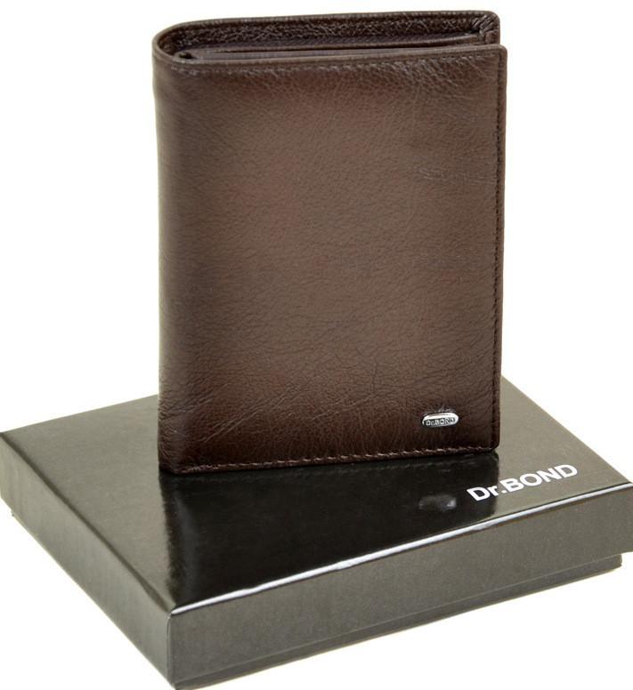 Мужской кожаный кошелек правник Dr.Bond на магните