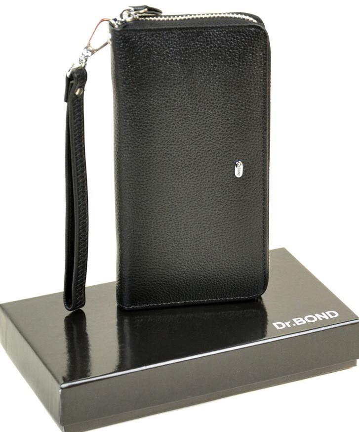 Мужской кожаный кошелек Dr.Bond на молнии