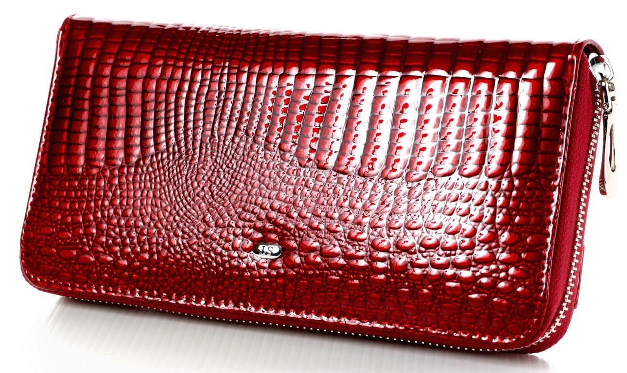 Женский кожаный кошелек клатч на молнии ST большой натуральная кожа