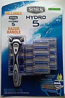 Бритвенный станок  Schick HYDRO 5 +  15  картриджей на планшете  производство США, фото 1