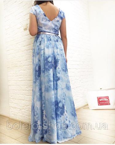Брендовое женское вечернее платье  длинное Италия, фото 2