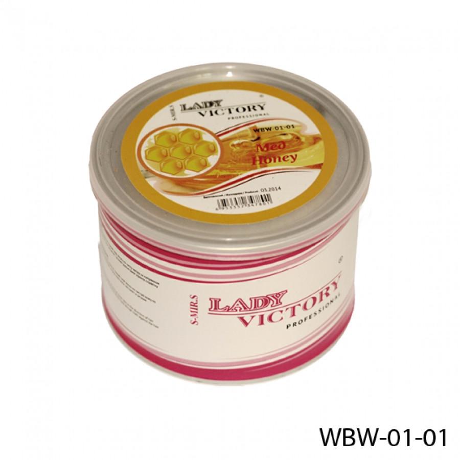 Водорастворимый воск для депиляции в банке Lady Victory WBW-01-01 (Мед), 500 гр