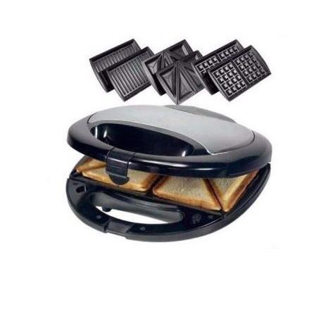 Бутербродниця Domotec MS-0770 3 в 1 750W: Сендвичница ,вафельниця, гриль