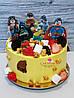 "Детский торт ""Лига Справедливости"" без мастики"