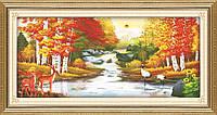 """Картина по номерам """"Красивая осень"""" (алмазная мозаика)"""