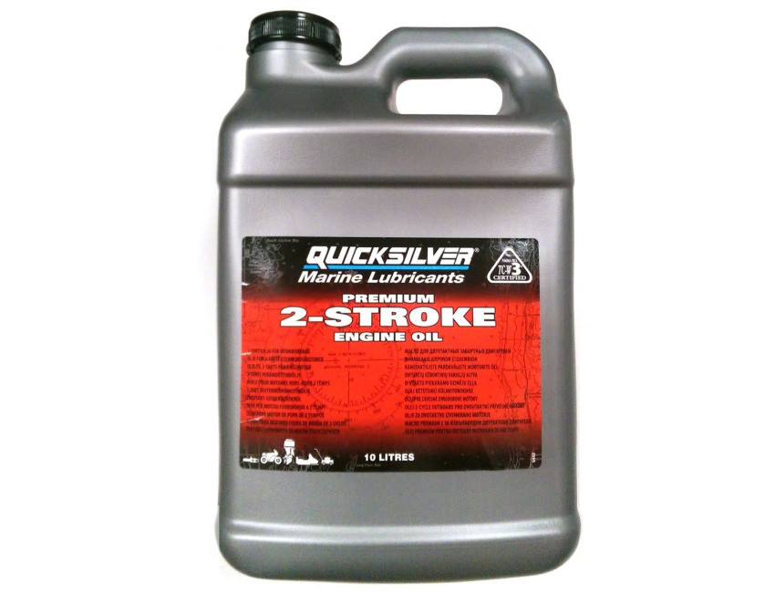 Масло моторное Qucksilver Premium 2-Stroke Engine Oil (10л)