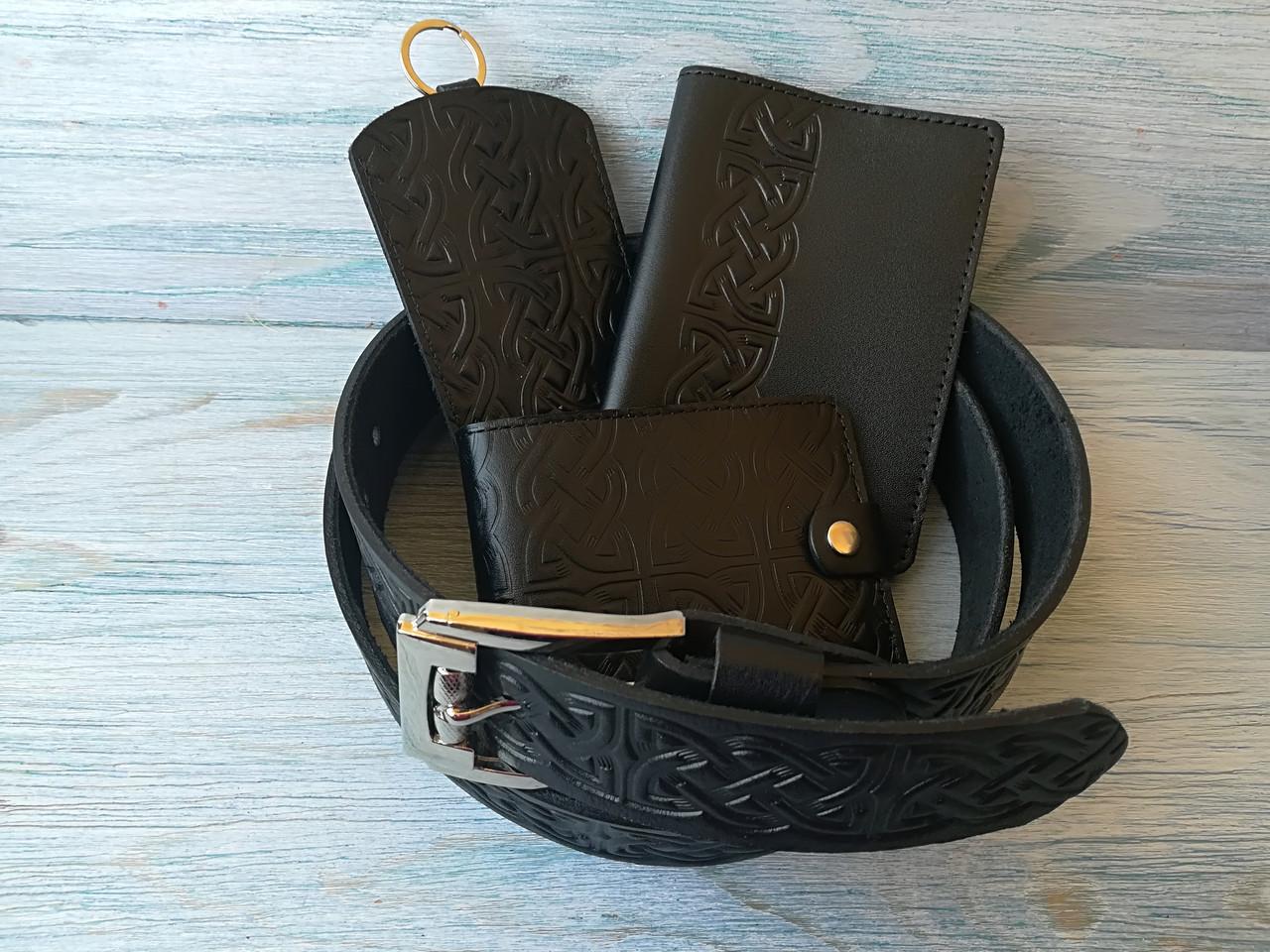 Подарочный набор черный кельтский узел