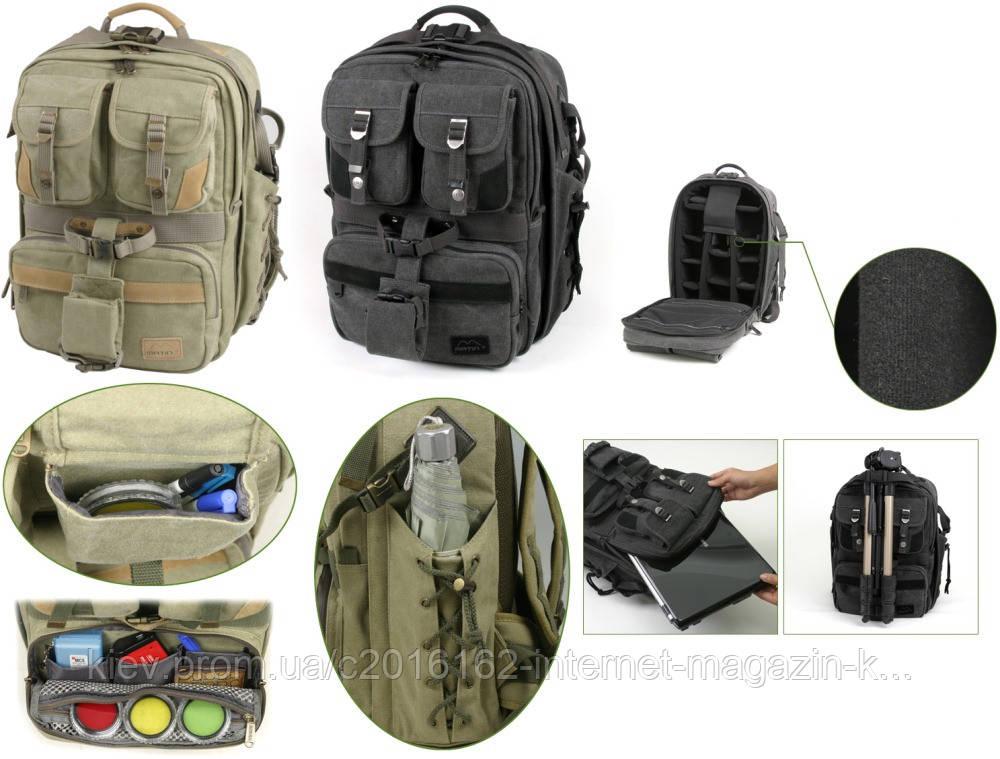 "Рюкзак для фотоаппарата MATIN CANVAS BAG ""ADVENTURE"" BACK PACK / KHAKI"