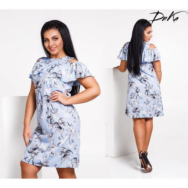 Красивое летнее платье Модель  50-56 р.