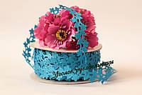 Ажурная лента цветочек вьюнок Бирюза