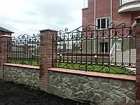 Заборы металлические кованые