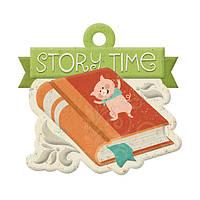 Фигурный тег с тиснением - Storytime - Story Time , 42470-3