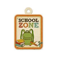 Фигурный тег с тиснением - Hall Pass - School Zone , 42265-5
