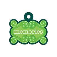 Фигурный тег с тиснением - Memories , 41624-1