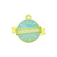 Фигурный тег с тиснением - Celebration , 42406-2
